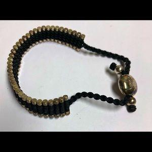 LINKS OF LONDON Black FRIENDSHIP Bracelet Sterling